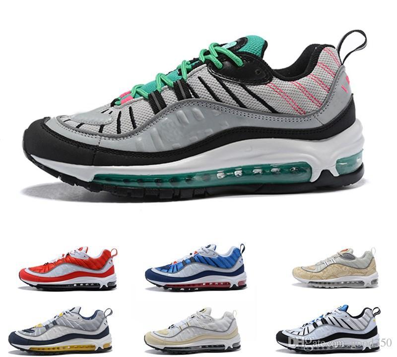 huge discount 870ec 4f003 Acquista 2018 Top Supreme 98 OG Running Shoe Tour Bianco Rosso Nero Blu  Mens Donna Uomo Designer 98s Sneakers Scarpe Sportive Di Lusso Taglia 36 46  A  82.58 ...