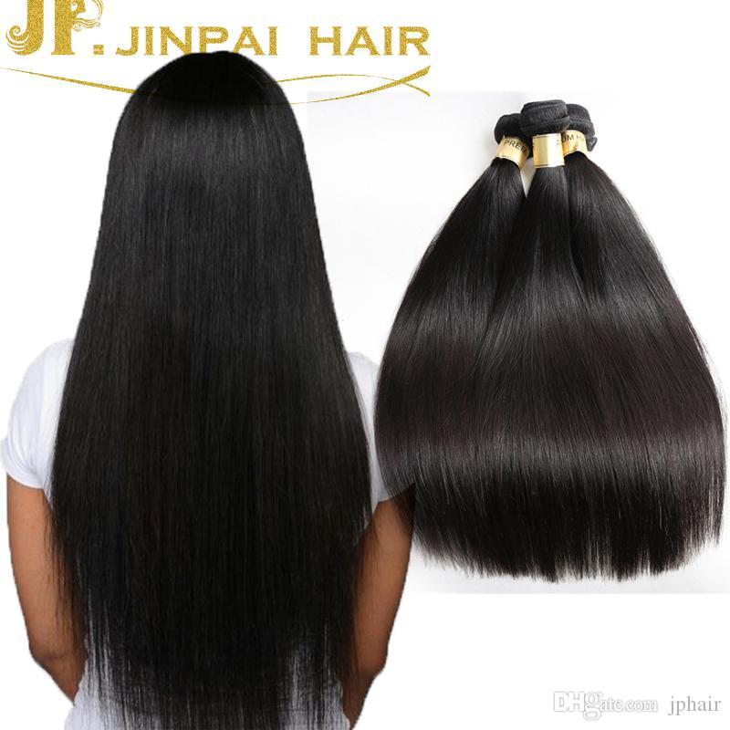 Jp Brazilian Virgin Hair Bundles Straight Hair Weaves Human Hair