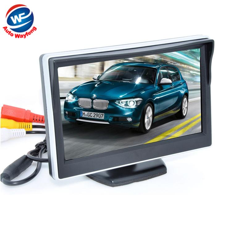 2019 5 Digital Color TFT 169 LCD Car Reverse Monitor With 2 Bracket Holder For Rearview Camera DVD VCR Multi Language Russian From Szwayfeng899