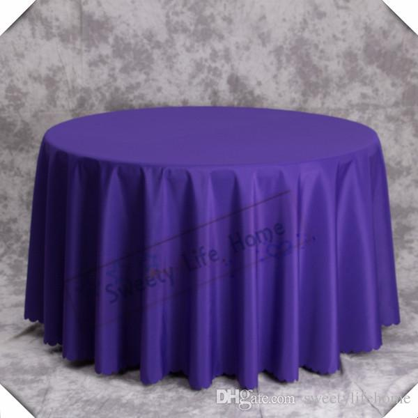 Nice Purple 100% Polyester Table Cloths/Banquet Table Cover Table  Cloths/120 Inch Round For Party Event Holiday Tablecloth Black And White  Tablecloths From ...