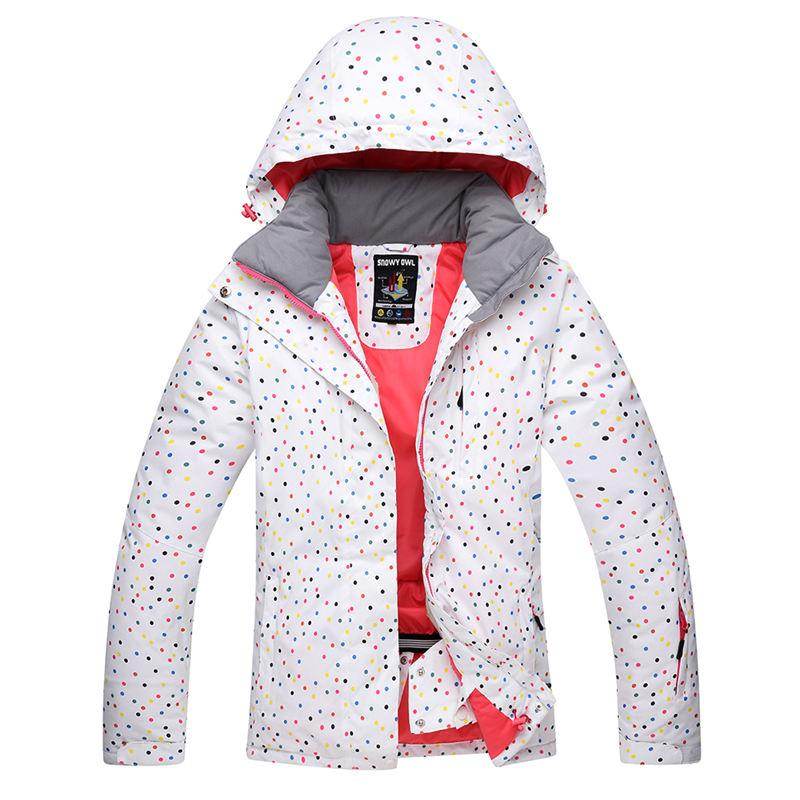 1f218905f3 2019 White Dot Snow Suit Women Snowboard Jackets Winter Waterproof Sport  Thicken Warm Costume Outdoor Skiing Suit Clothing Snow Cost From Ekuanfeng