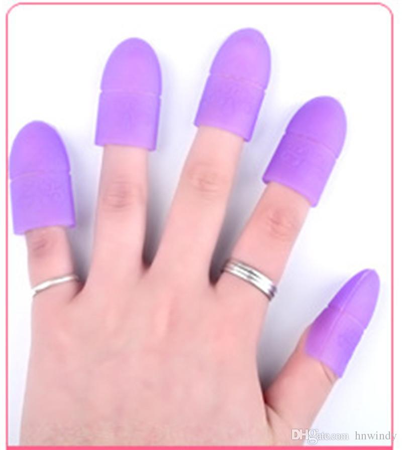 5 unid Nail Art Tips ULTRAVIOLETA ULTRAVIOLETA del Gel del removedor del polaco del abrigo del casquillo de la manicura del clip de la manicura de la herramienta de limpieza del dedo reutilizable DHL freeship