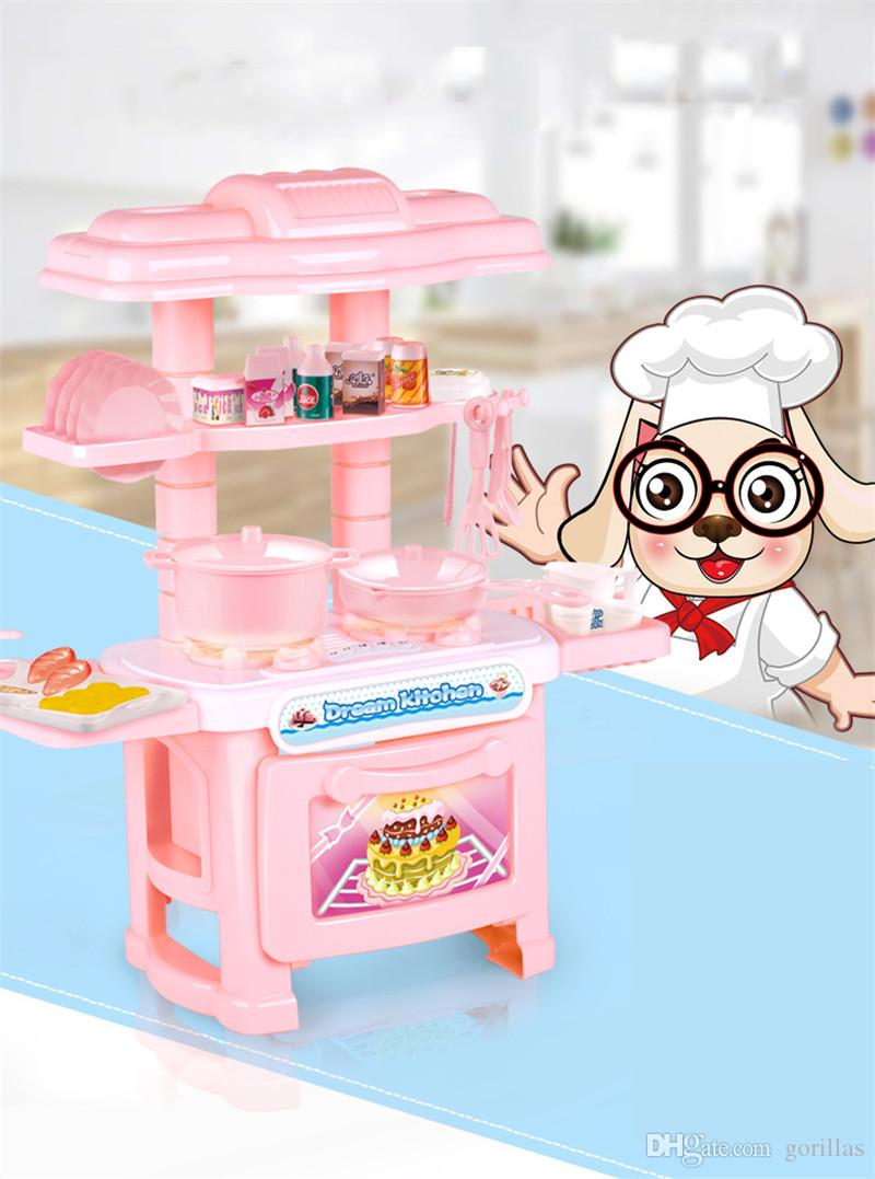 Multifunctional Tableware Table Kitchen Cooking Set Girls Boys For