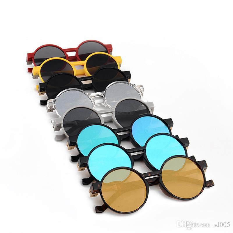 Round Lens Frame Women And Men Sunglasses Retro Colorful Fashion Popular Sun Glasses For Outdoor Travel Decor Wear Eyeglasses 15qc Z