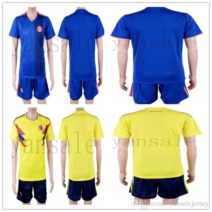 e06c8ab54 Soccer Jersey Full Shirt+short 2018 World Cup Colombia Home Away ...