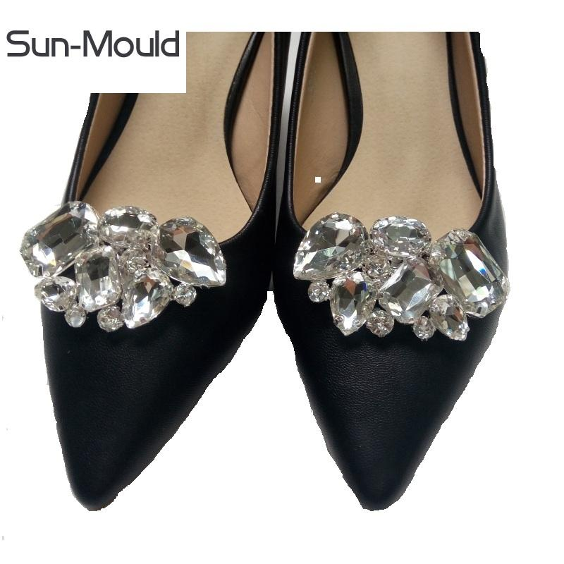 shoes accessories shoes flower charms bridal high-heel pumps accessories crystal diamond shoe clips Fashion wedding decoration buckle 1pairs