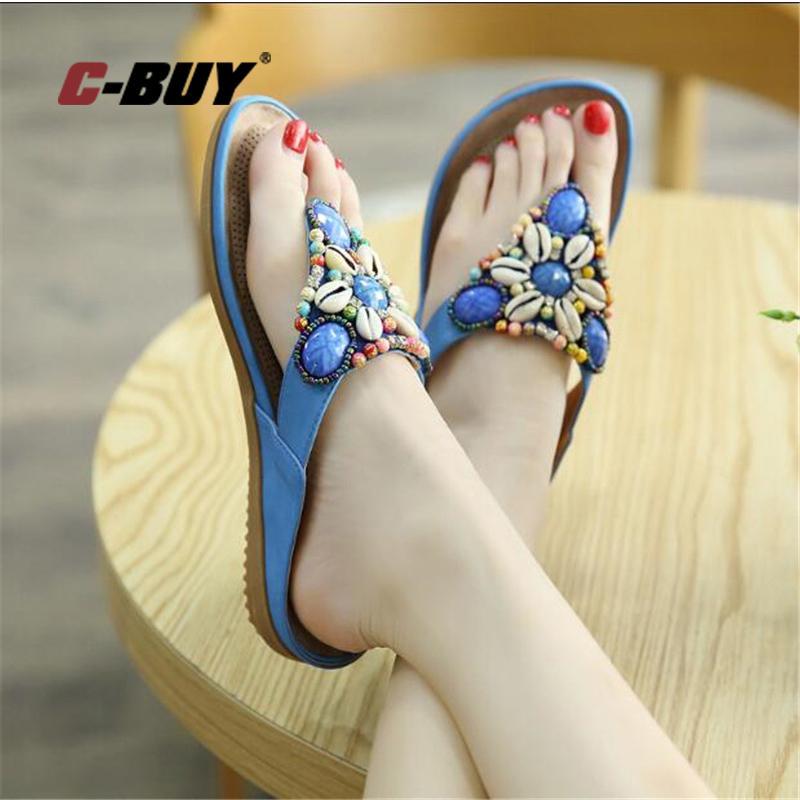 5b18fb76d156a Women Beach Slippers Women Fashion Slipper With Bead Platform Sandals Ladies  New Style Flip Flops Summer Shoes Mens Shoes Combat Boots From Faaa