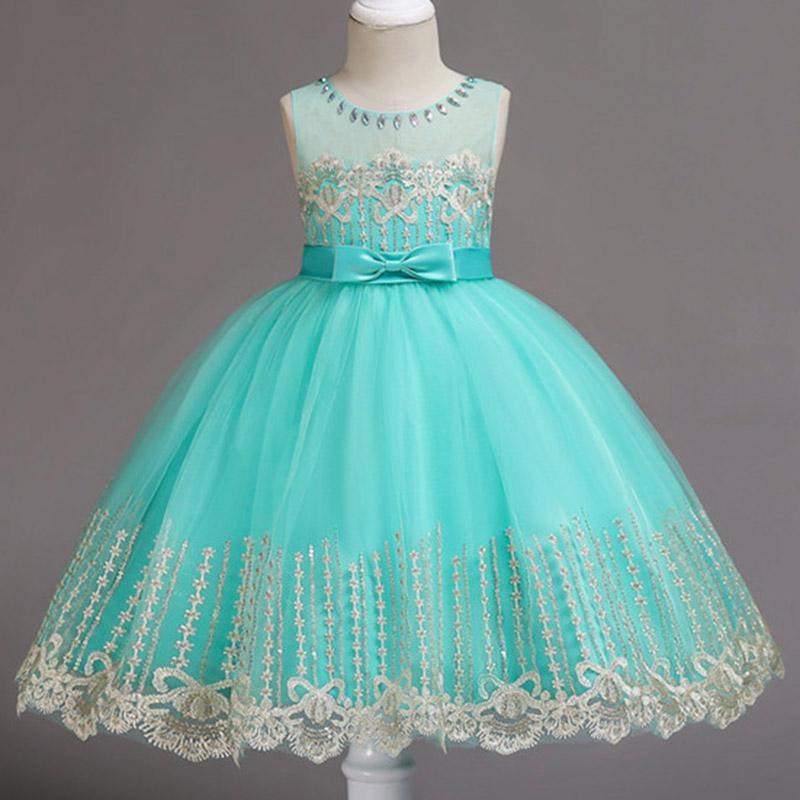 cd81fdecfda42 Acheter Fleurs Filles Robe De Mariage Princesse Robes Pour Filles D été  Enfants Vêtements Fille Costume Pour Enfants Vestidos 3 5 6 8 9 10 Ans De   74.36 Du ...