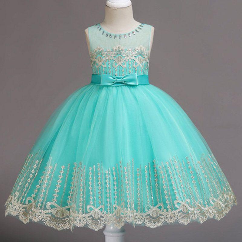 075d4283ed4b Compre Flores Vestido De Niñas Vestidos De Princesa De Boda Para Niñas Ropa  De Niños De Verano Traje De Niña Para Niños Vestidos 3 5 6 8 9 10 Años A  $74.36 ...