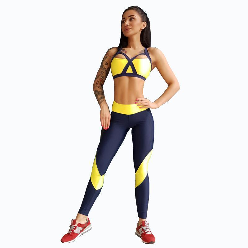 e359b0e789 Compre PENERAN Mulheres Treino Conjunto De Yoga Sem Mangas De Ginástica  Roupas De Fitness Workout Kit Feminino Correndo Conjunto De Roupa Interior  Do ...