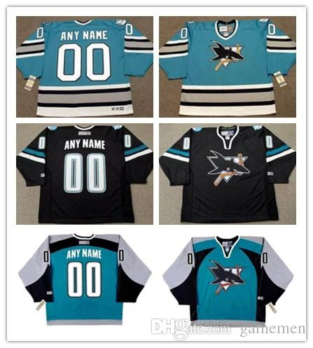 852f3c4a4 2019 Custom San Jose Sharks Men S CCM Vintage Hockey Jersey 24 DOUG WILSON  7 IGOR LARIONOV 8 TEEMU SELANNE Jerseys From Gamemen