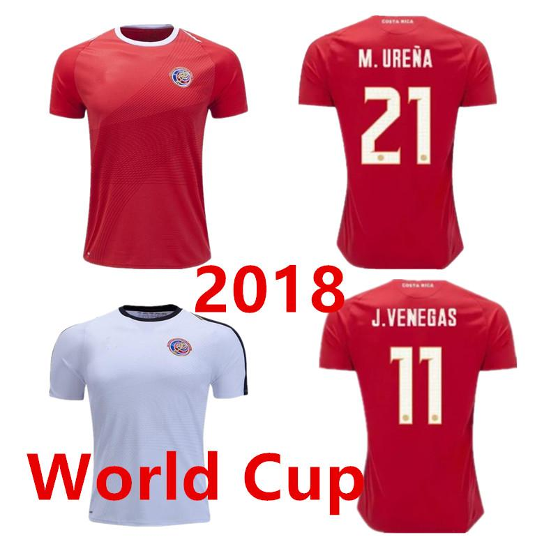 check out 9a6af 5e76b Thailand 2018 Costa Rica World Cup Soccer Jerseys BRYAN H.WASTON C.BORGES  M.URENA 18 19 Costa Rica National Team Football Shirts
