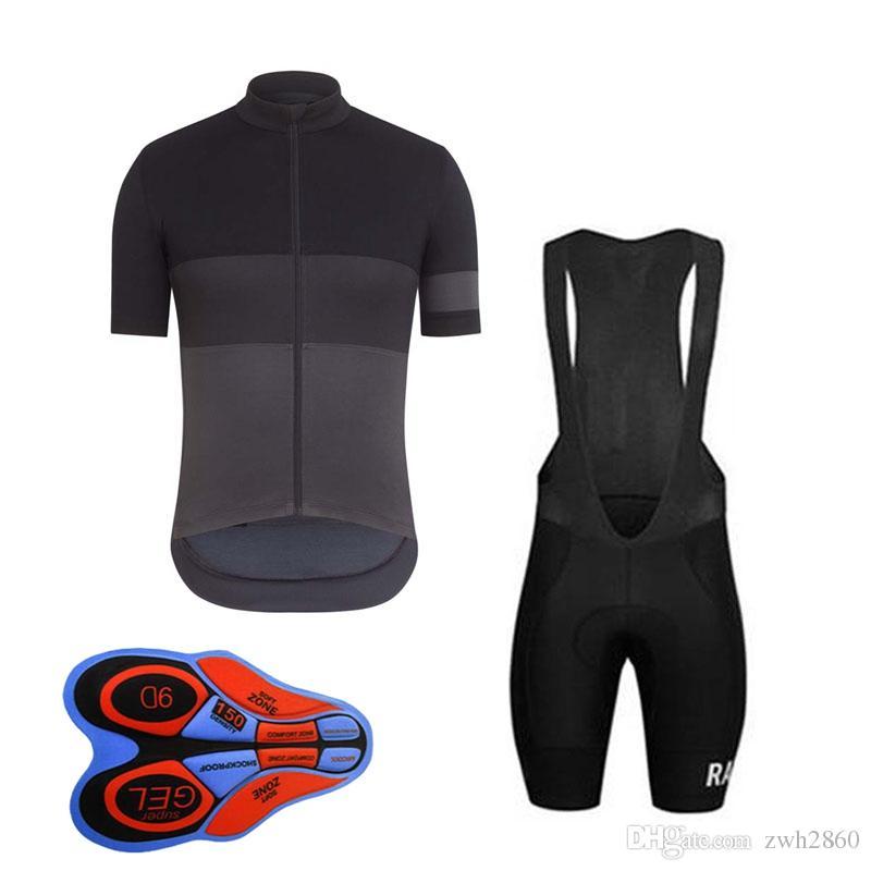 RAPHA équipe manches courtes bavette shorts gilet sans manches définit été vtt 9D gel pad hommes de cyclisme vêtements pas cher vêtements-china F810 /
