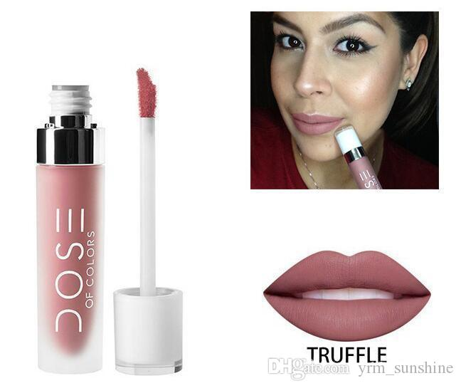 Wholesale-make up DOSE OF COLORS Liquid Lipstick Matte Lipstick Bare With Long Lasting matte labial glair lip gloss