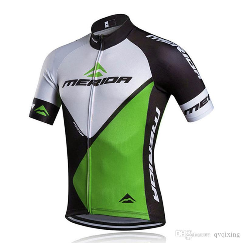 Acquista Vendita Calda MERIDA Quick Dry Cycling Jersey Estate Manica Corta MTB  Bike Abbigliamento Da Ciclismo Ropa Ciclismo Abbigliamento Da Corsa ... a0acd3c79