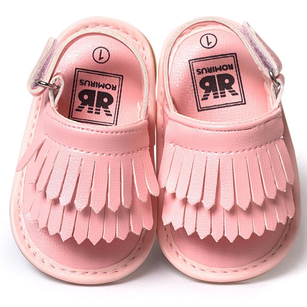 1be79ea45f sandalia girl Baby Shoes Sandals Casual Fashion PU Tassel Sandals For  Children kids Girls Boys - Pink