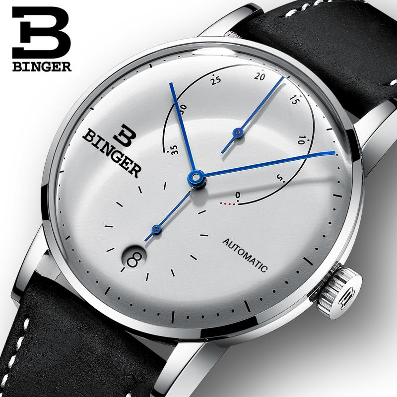 Switzerland BINGER Men's Watches Top  Automatic Mechanical Men Watch Sapphire Male Japan Movement reloj hombre