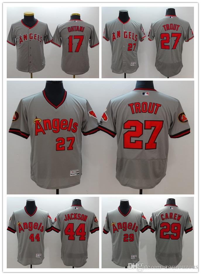 2018 Men S Los Angeles Angels Of Anaheim Mike Trout 27  Baseball Jersey  Majestic Scarlet Alternate Big   Tall Cool Base Player Embroidery Je From  Zouzouzous ... b0b0f5541