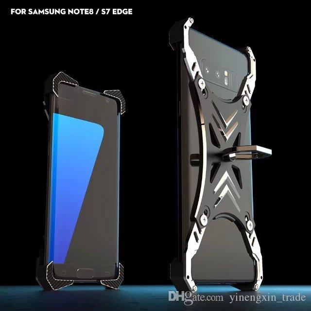 the best attitude 027ea 3f667 R-just Luxury universal for Samsung s8 Case Frame Aluminum Back Cover For  Samsung galaxy s8 plus s8 s8 Phone Cases with ring