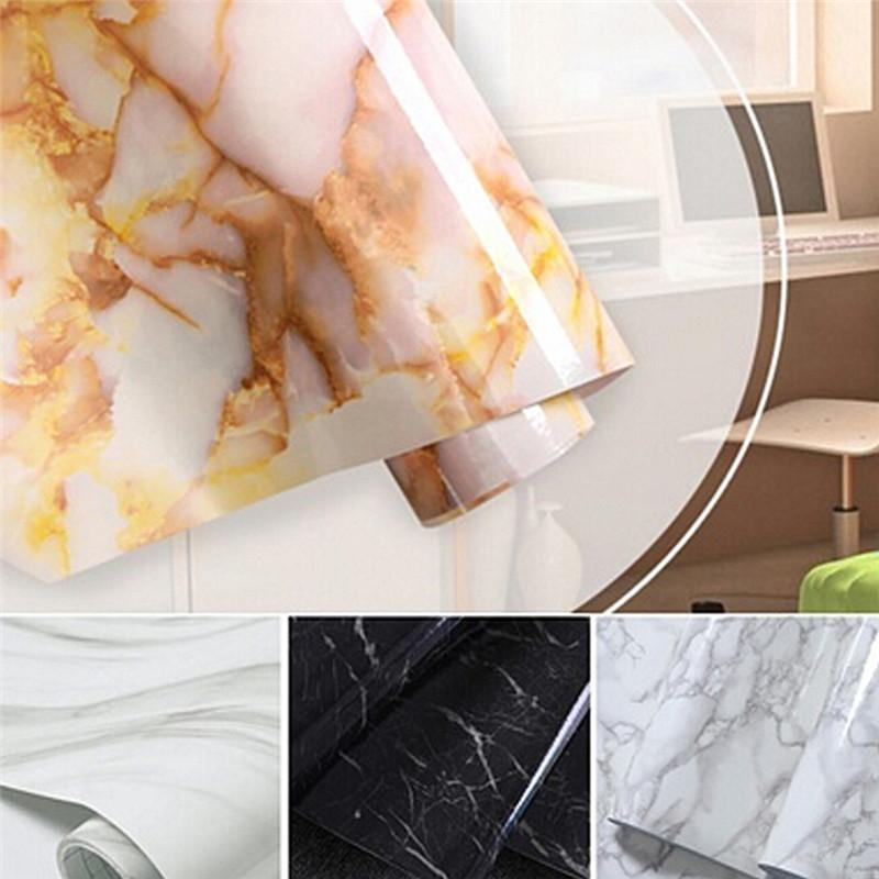 Wholesale 50cm Pvc Self Adhesive Wallpaper Glossy Marble Diy Vinyl  Decorative Film Kitchen Cabinet Countertop Home Decor Wall Sticker  Wallpaper Screensaver ...