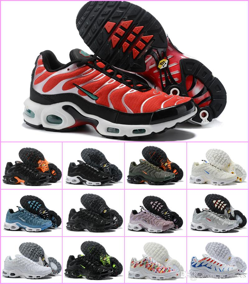 New Designs 2018 Air TN PLUS Mens Running Shoes Tns Off Fashion Chaussures  Maxes Plus Tn Requin White Black Trainer Luxury 270 OG Sneakers Mens  Sneakers ... 1355a8452