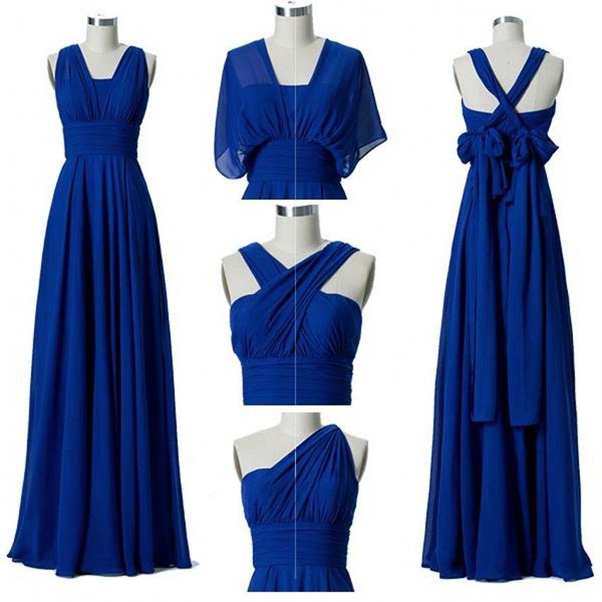 Convertible Chiffon Bridesmaid Dresses 2019 Cheap Custom