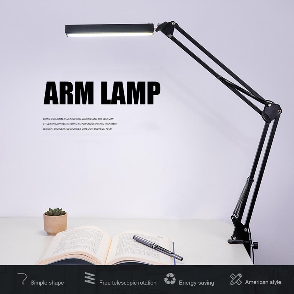 Super Bright Desk Lamp Folding Reading Light Energy Saving Flexible Eye-protection Lamps Stepless Dimming Office Table Lamp
