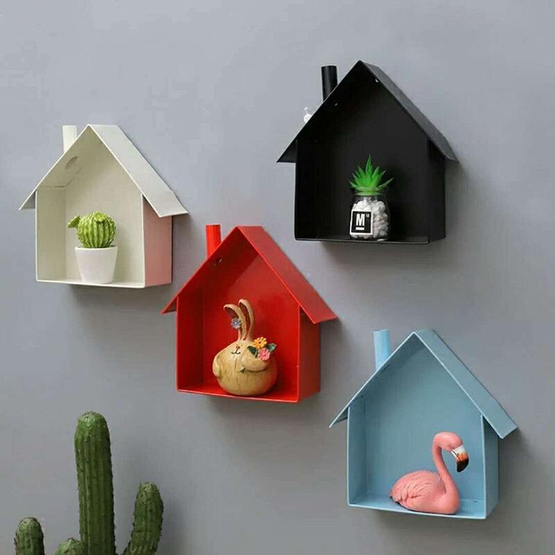 Großhandel Kreative Kleine Haus Wandregal Kinder Bad Organizer