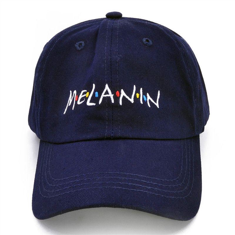New Arrival MELANIN Letter Embroidery Baseball Cap Women Snapback Hat  Adjustable Men Fashion Dad Hats Wholesale MELANIN Baseball Cap Snapback Hat  Online ... 05a75d4e6f4d