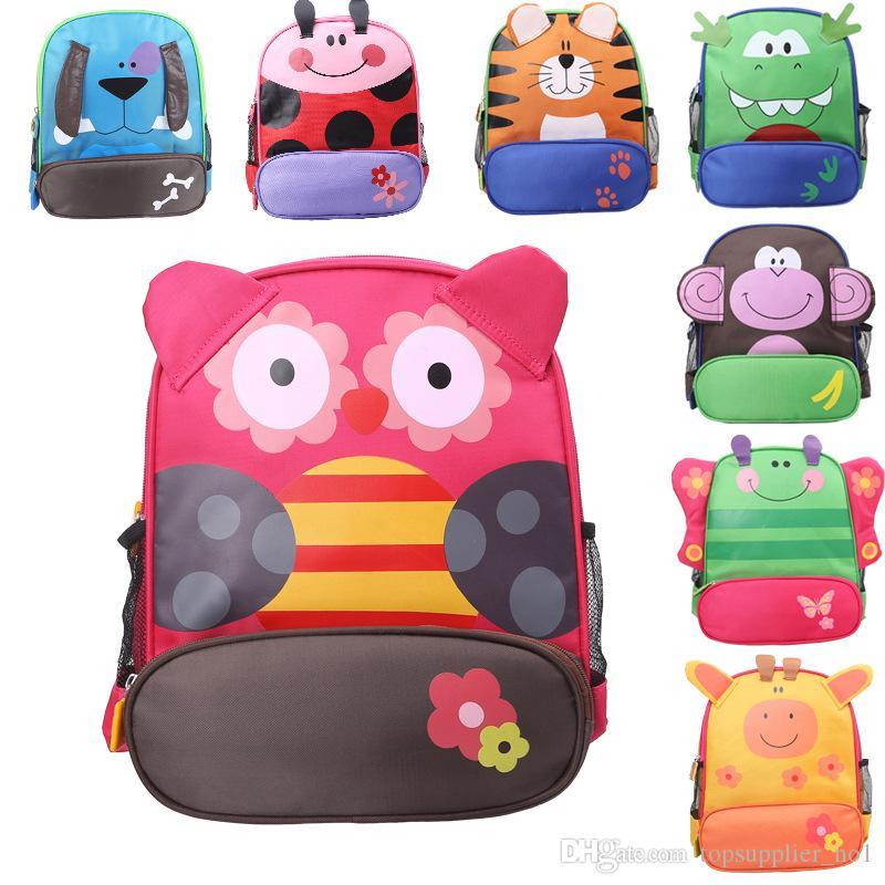 Kids Cartoon Animal Shoulder Bags Boys Girls Cute Backpacks ... 11d8f78722081