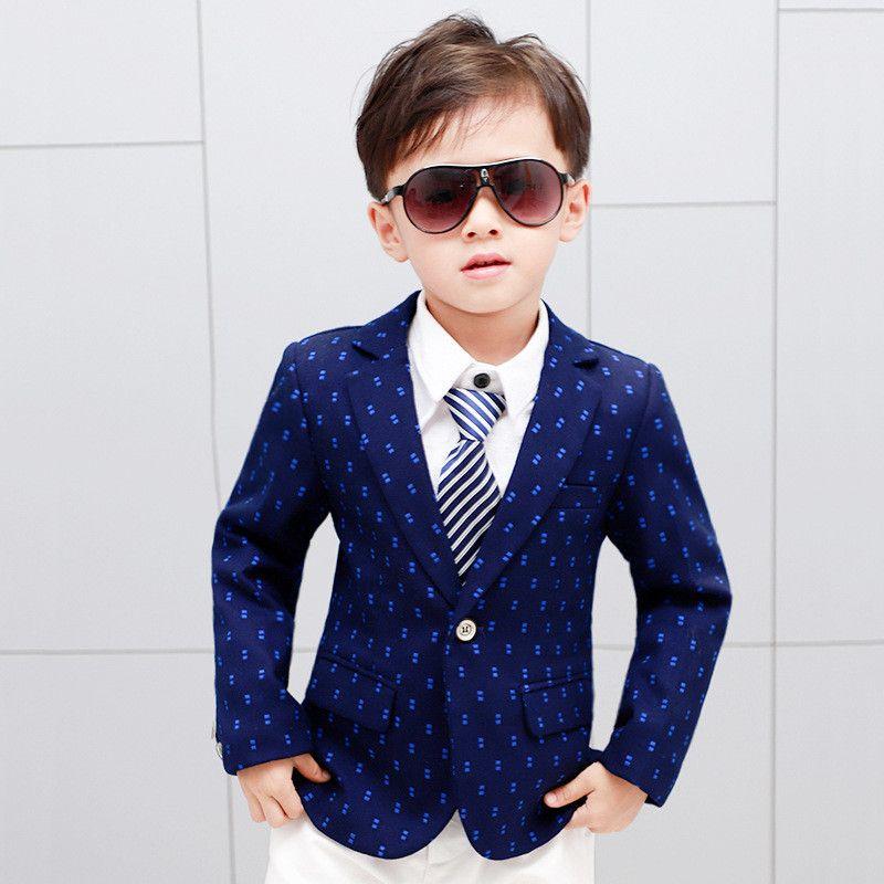 fd6128e7dc Classic Boy Blazer Coat Gentleman Style Dot Cotton Coat Blazer for 3 ...