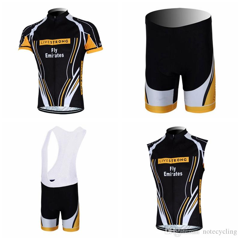 LIVESTRONG Cycling Short Sleeves Jersey Bib Shorts Sleeveless Vest Sets  Summer Mtb Bike Clothing Maillot Ciclismo Sportswear A41221 LIVESTRONG  Cycling ... b7a0df80a