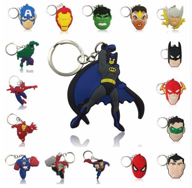 The Avengers Figure Portachiavi Giocattoli Batman Superman Iron Man Thor Spiderman Capitan America PVC Giocattoli pendenti in PVC Cartoon portachiavi