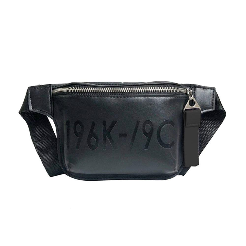 9b489c807e9 PU Leather Waist Fanny Pack Women Belt Shoulder Messenger Chest Handbags  Pouch Travelling Mountaineering Mobile Phone Bag