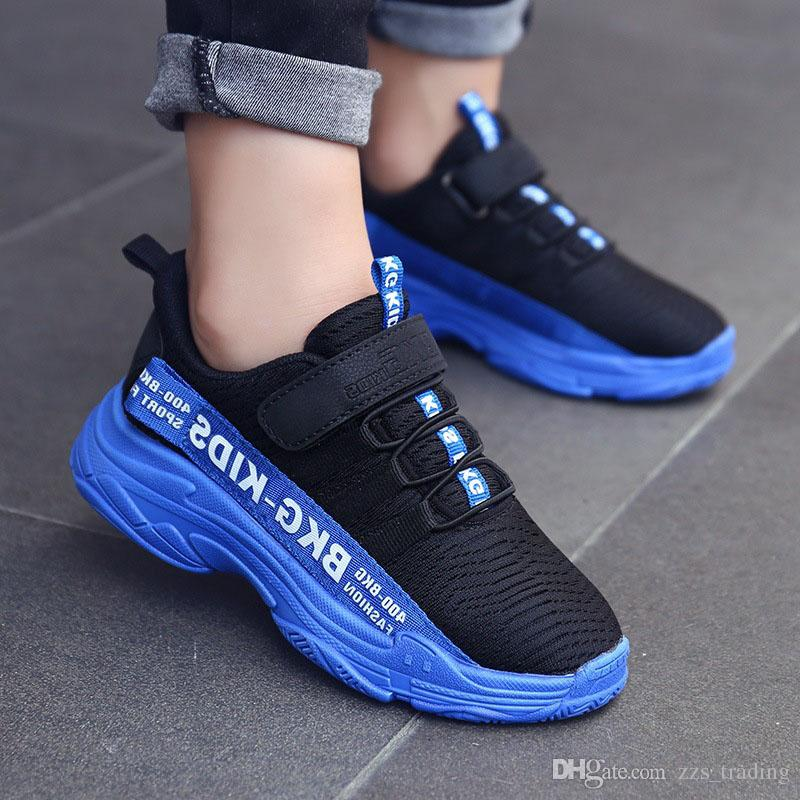44a69dcaab Kids Running Shoes For Boys Fashion Breathable Sport Sneakers Spring Big  Children Shoes Wear resistant warm Non-slip Best-selling product