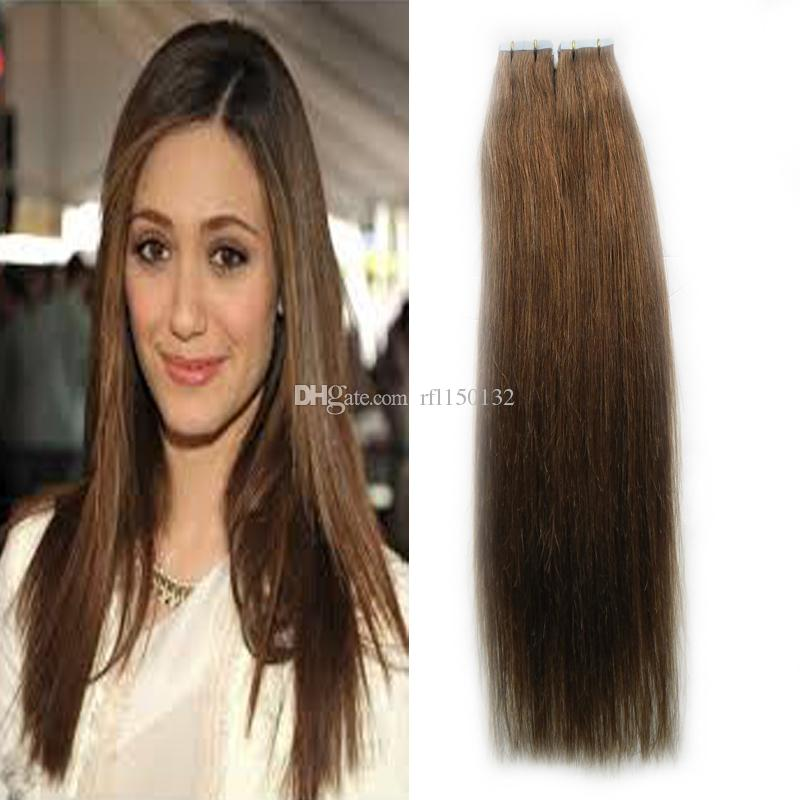 Tape In Human Hair Extensions 10 24 Inch Straight Remy Tape In Human