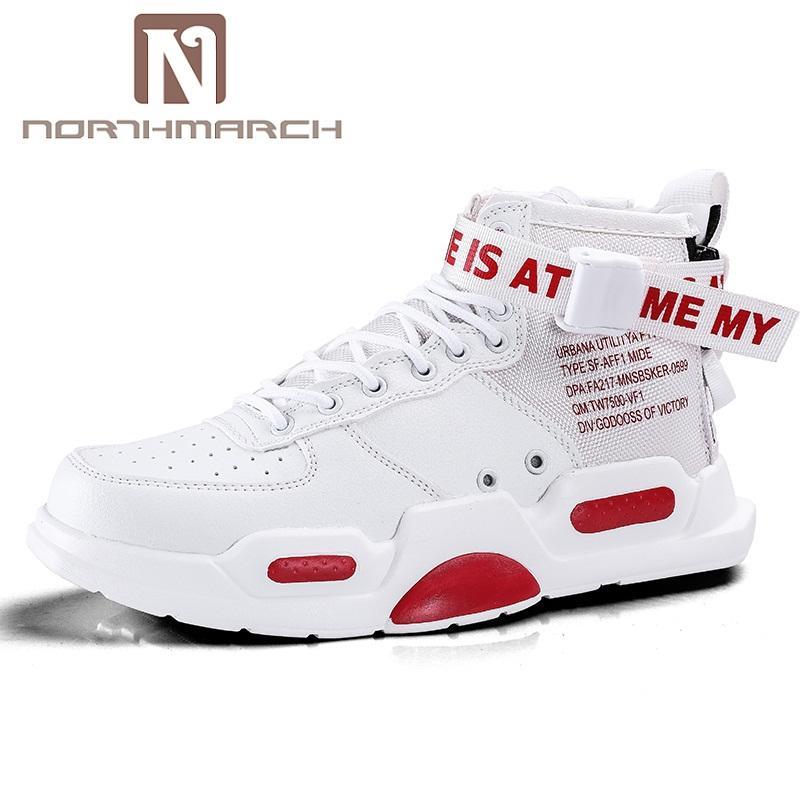 124cf42057289 Compre NORTHMARCH 2018 Nuevos Zapatos De Los Hombres De Moda Casual De Cuero  Zapatillas Otoño Invierno Transpirable Zapatos De Pareja Krasovki Hombres  ...