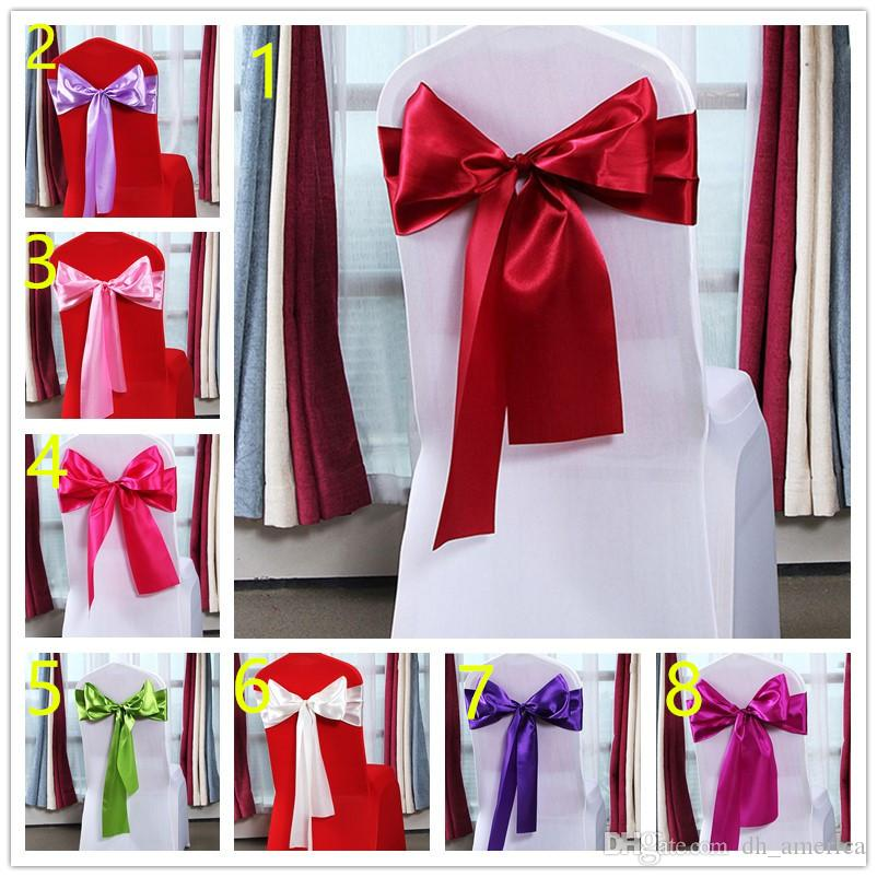 Satin Bow Sashes For Wedding Chair Back Flower Chair Decorations