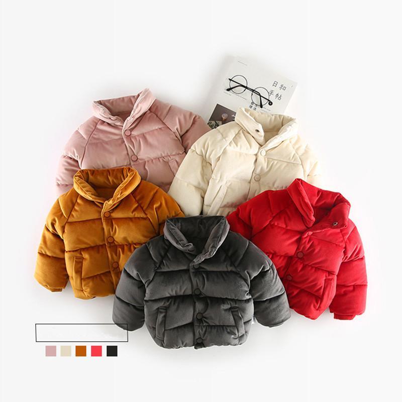08fda2147640 Kids Winter Jacket Gold Velvet Thicken Cotton Warm Boys Coat Winter ...