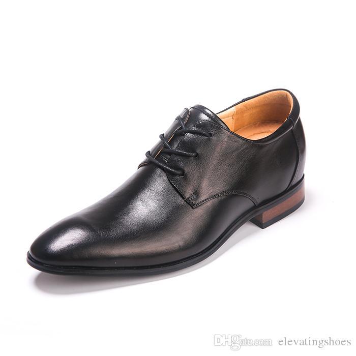 Estilo británico negro PU zapatos del elevador para los hombres 66ZOQKbO6h