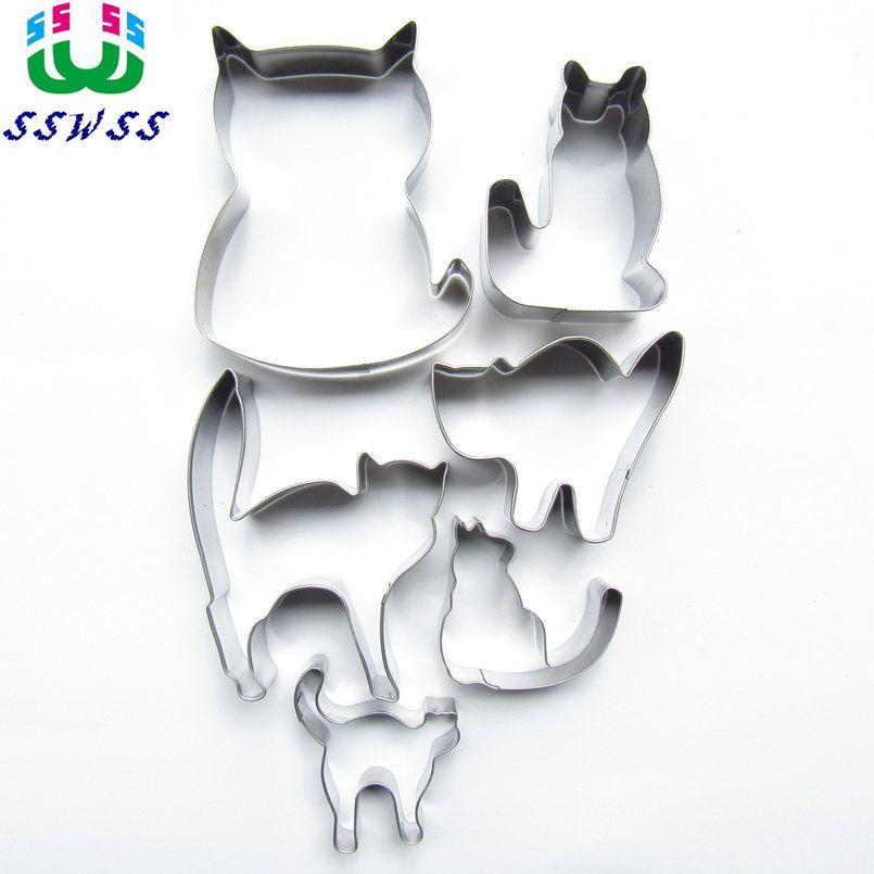 278ef3602f692 Satın Al Altı Canlı Kediler Şekil Kek Çerez Bisküvi Pişirme Kalıpları,  Hayvan Kek Dekorasyon Fondan Kesiciler Araçlar, Doğrudan Satış, $34.82 |  DHgate.