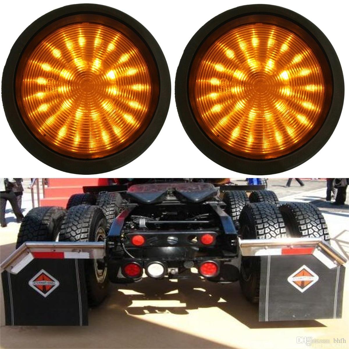 Trailer Accessories Led Truck And Lights Super Bright Leds 2x 30 Round Rear Lamp Tail Stop Brake Light Lorry Caravan Yellow Online With 2787 Piece On Bhfhs Store