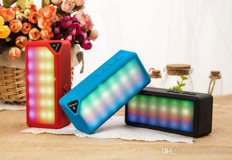 Wireless Bluetooth Speaker Water Cube Colorful LED Light Colorful Mini X3s Glowing Audio Factory Wholesale Speaker