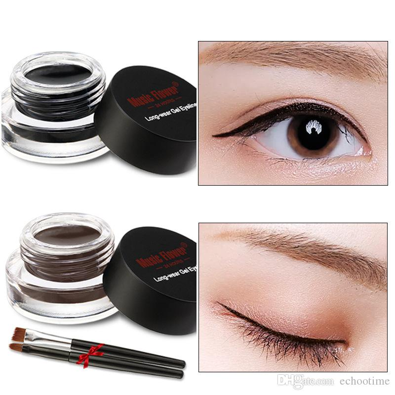 a94cfde48be Hot Selling Brown Black Music Flower Eyestudio Gel Eyeliner Kit Water Proof  Smudge Proof Eye Liner 24H Long Lasting Make Up Sets Best Gel Eyeliner From  ...