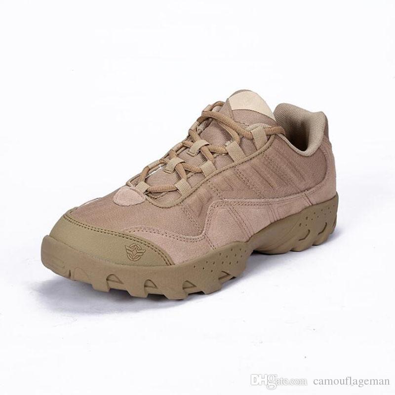 Compre Botas Tácticas Del Desierto Al Aire Libre Zapatos De Cuero Genuino Para  Hombre Arranque De Combate Botas De Alpinismo Al Aire Libre Zapatos De ... d25e88055019