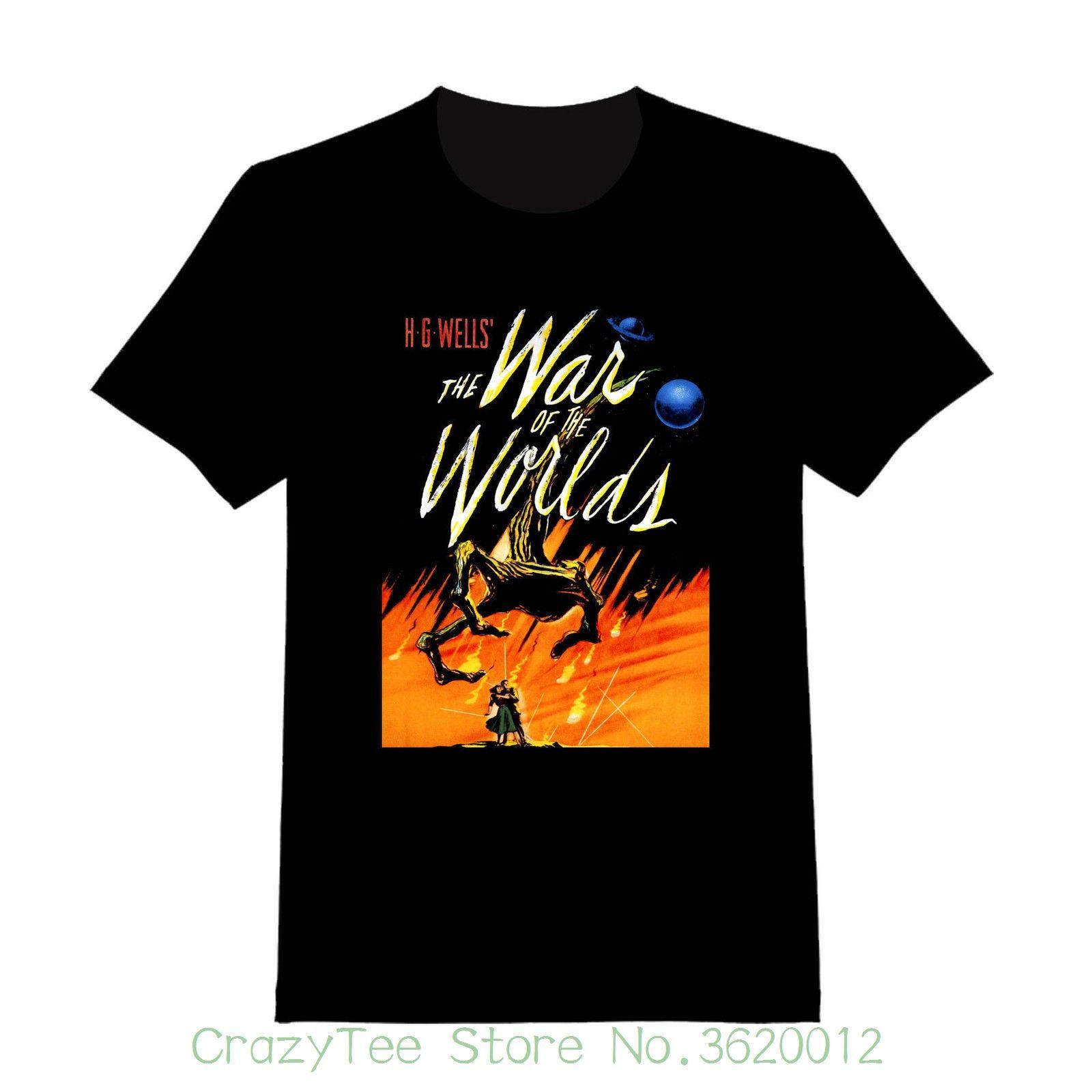 71daacffa Women'S Tee War Of The Worlds Custom T Shirt 150 Cotton Casual Lady Women  Tops Tees T Shirt Buy Cool T Shirt Companies From Crazyteestore, $23.95|  DHgate.