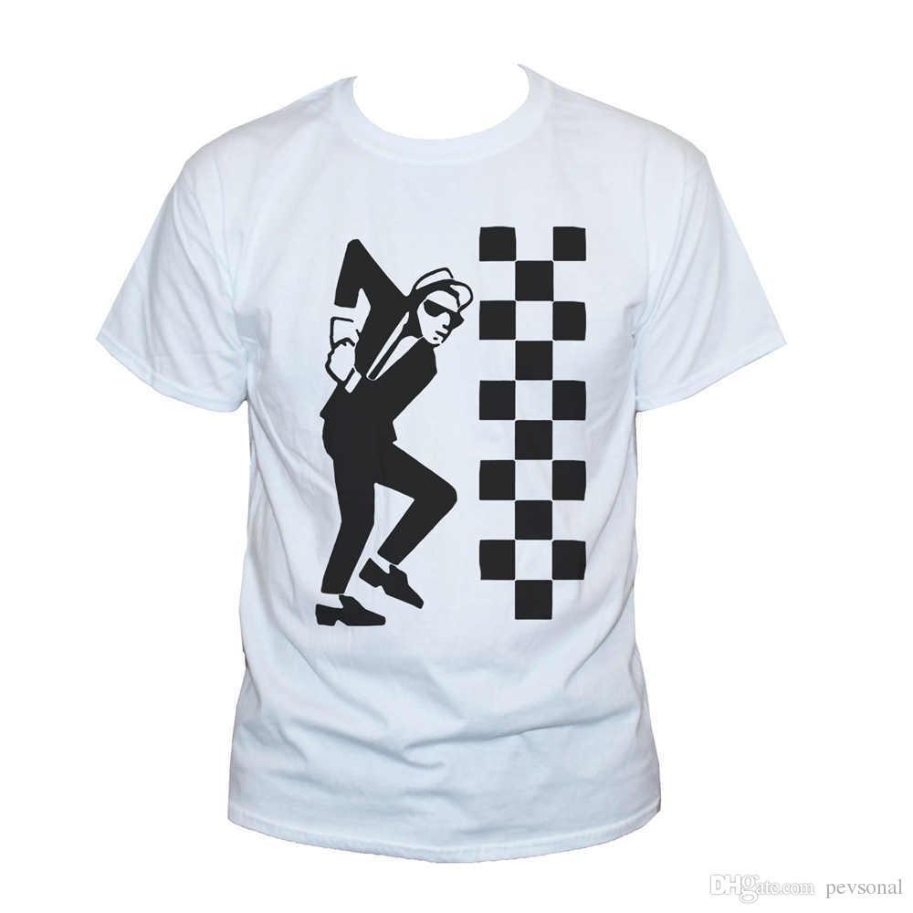 New Fashion Style Design T Shirt Ska Dude Two Tone T Shirt The