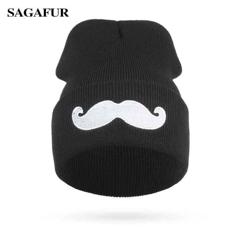 01ed01ca8fb 2019 Winter Beanies For Girls Quality Embroidery Cute Mustache Knitted Hat  Street Fashion Hip Hop Men Women S Cap Casual Skullies From Prescott