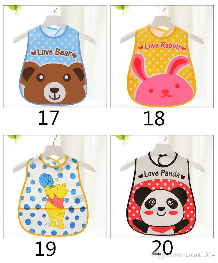 Baby Kids Cute Cartoon EVA Waterproof Silicone Children Bibs Boys Girls Infants Burp Clothes Feeding Care