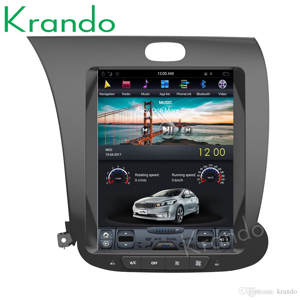 "Krando Android 7.1 10.4"" Tesla Vertical touch screen car dvd audio radio multimedia system for Kia K3 gps navigation player"